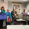 A VERY successful bag class ( I'm in the middle with the demo😉)